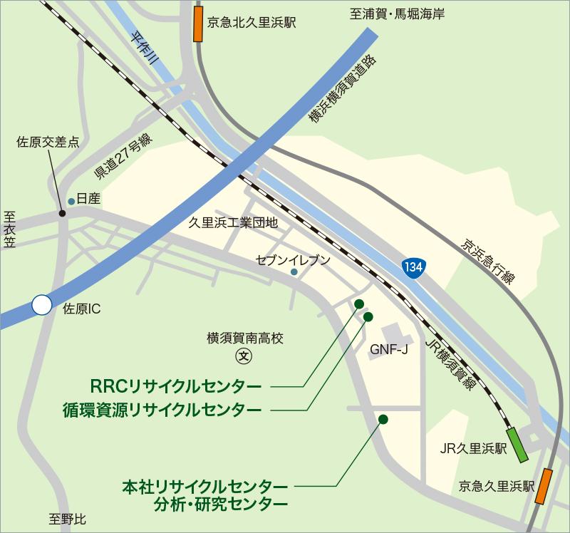 横須賀市久里浜〜北久里浜地域マップ