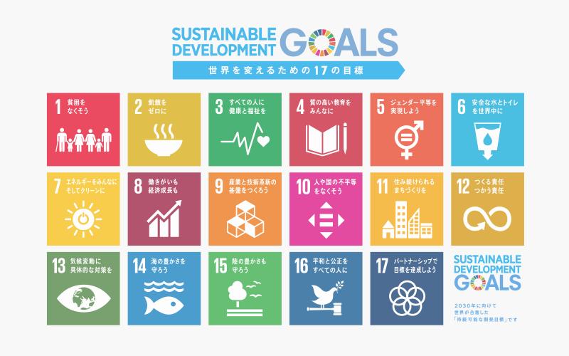 世界を変えるための持続可能な17の国際目標
